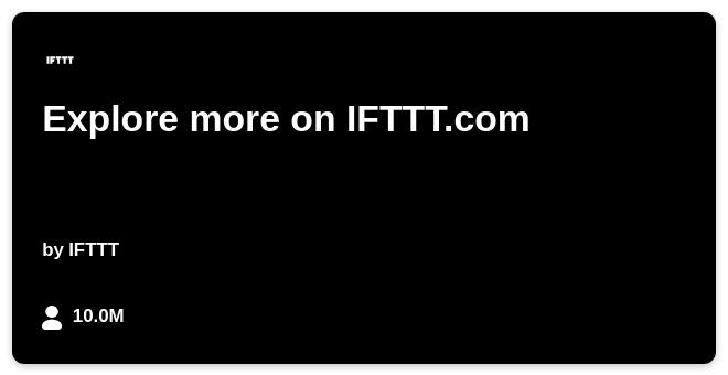 IFTTT Recipe: IFTTT 更新ブログが更新されたら feedly に表示。