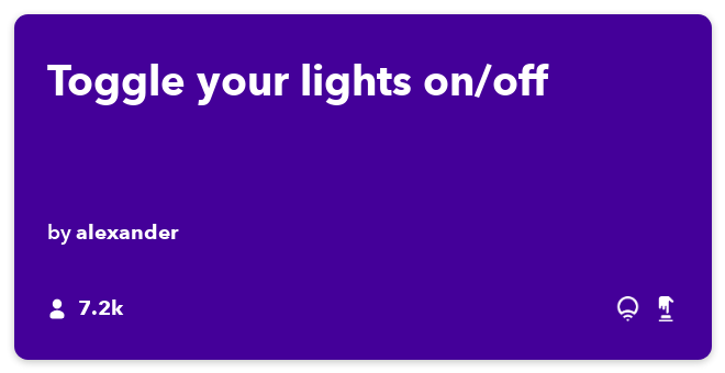 IFTTT Recipe: Toggle your LIFX lights on/off connects do-button to lifx