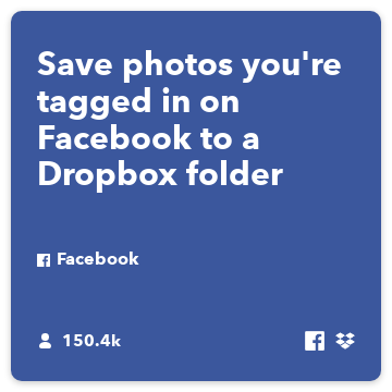 Save photos youre tagged in on Facebook to a Dropbox folder