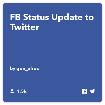 FB Status Update to Twitter