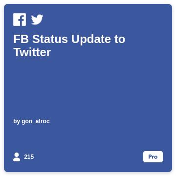FB Status Update to Twitter