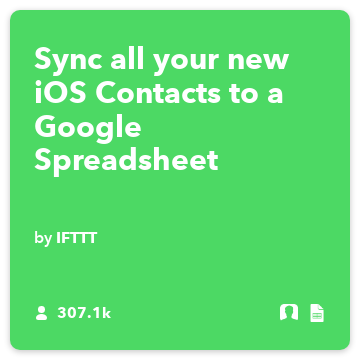 Sync all your new iOS Contacts to a Google Spreadsheet