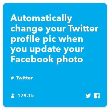 Keep your Facebook and Twitter profile pictures in sync